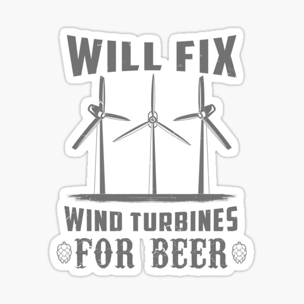 Wind Turbine Technician Gift Idea Sticker