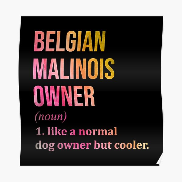Belgian Malinois Dog Funny in Watercolor Poster
