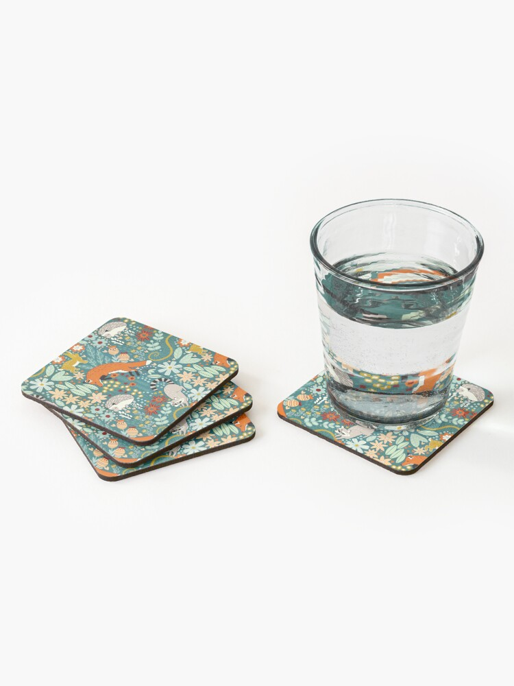Alternate view of Textured Woodland Pattern  Coasters (Set of 4)