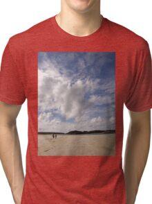 Walking Keadue Beach Donegal Ireland Tri-blend T-Shirt