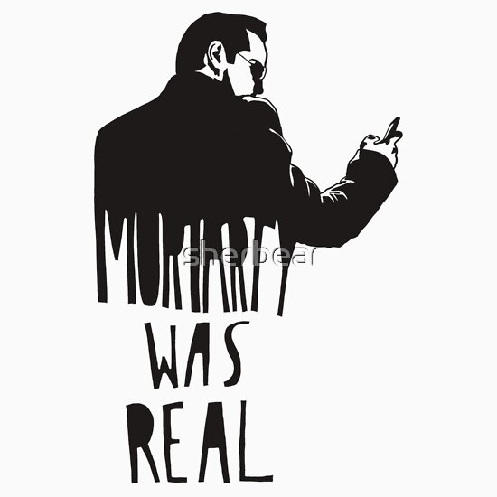 TShirtGifter presents: Moriarty Was Real - Black