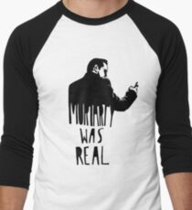 Moriarty Was Real - Black Men's Baseball ¾ T-Shirt