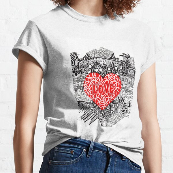 Love - Doodle Drawing Classic T-Shirt