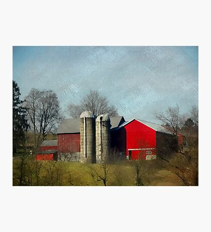 Very red barn Photographic Print