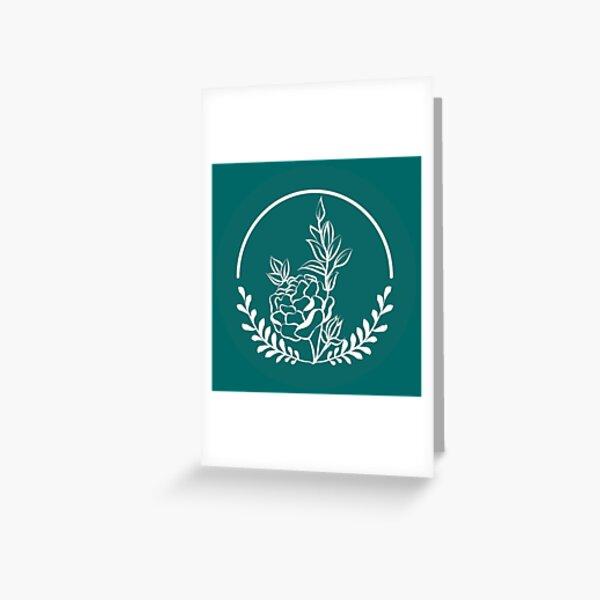 Wildflower Kamon Greeting Card