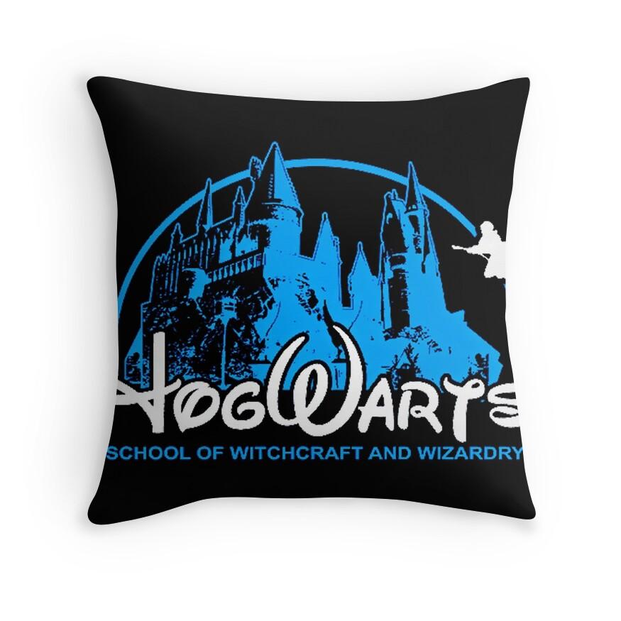 Harry Potter New Hogwarts Castle   Throw Pillow