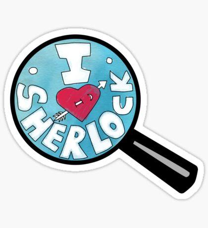 I HEART SHERLOCK Sticker
