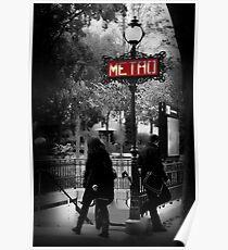 Paris Metro Entrance-Paris, France Poster