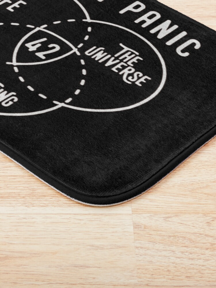 Alternate view of 42 is the Answer Hitchhiker's Guide to the Galaxy Bath Mat