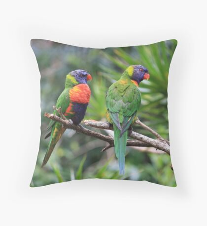 Birds: Mates In The Rainforest Throw Pillow
