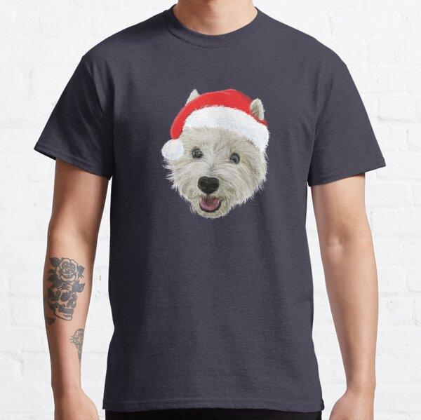 West Highland Terrier Christmas Santa Hat  Classic T-Shirt