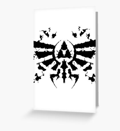 Hyrule Rorschach Greeting Card