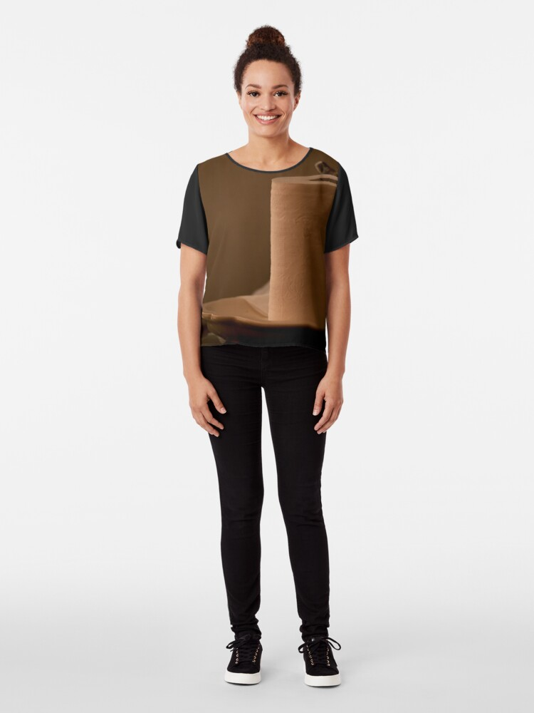 Alternate view of Toilet paper Chiffon Top