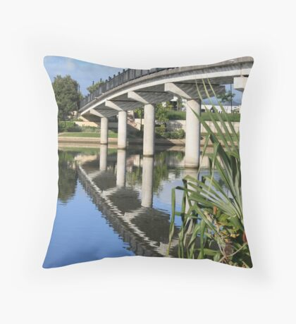 Foot Bridge Over Emerald Lake Throw Pillow