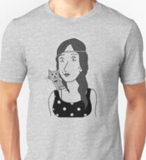 Polka-dot dress and Cat Unisex T-Shirt