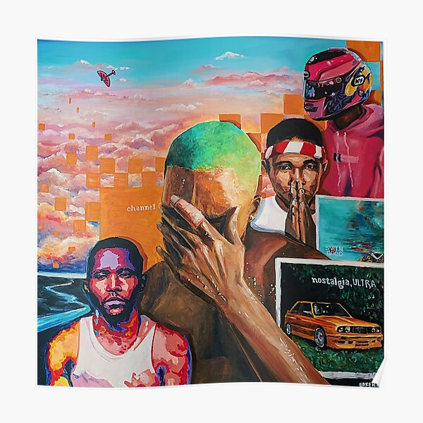 Frank Ocean Collage Poster