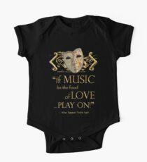 Shakespeare Twelfth Night Love Music Quote One Piece - Short Sleeve