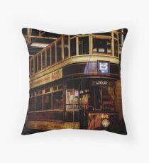 Vintage Tram Throw Pillow