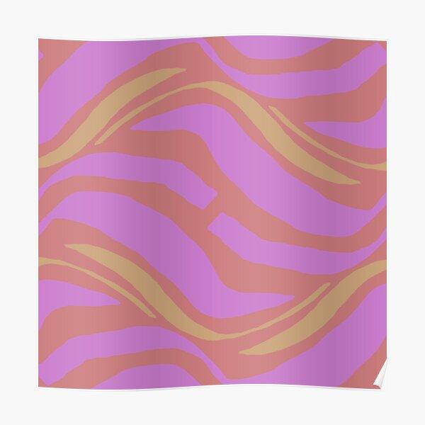 Smooth Pink Pastel Waves Poster