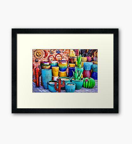 Rumba Of Colors . Framed Print