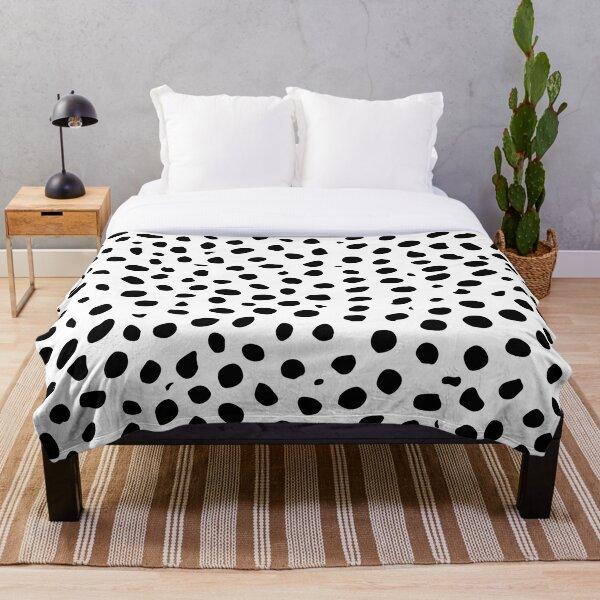 Black and White Seamless Cheetah Spots Throw Blanket