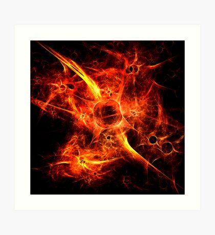 Fiery Fires Art Print
