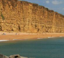 East Cliff at West Bay, Bridport, Dorset Sticker