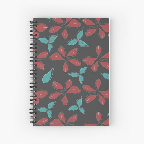 Floral Papercut Collection Seamless Surface Pattern Spiral Notebook