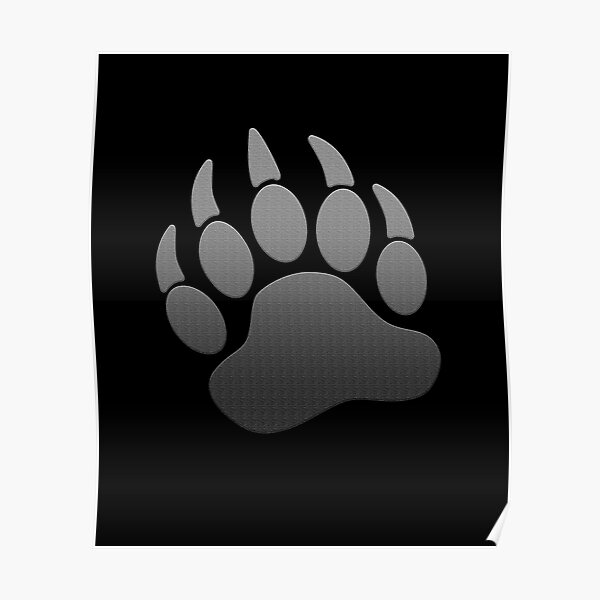 Paw Print Mens PRINTED T-SHIRT Claws Bear Animal Art