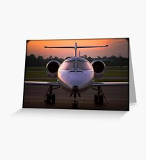 Corporate Jet Greeting Card