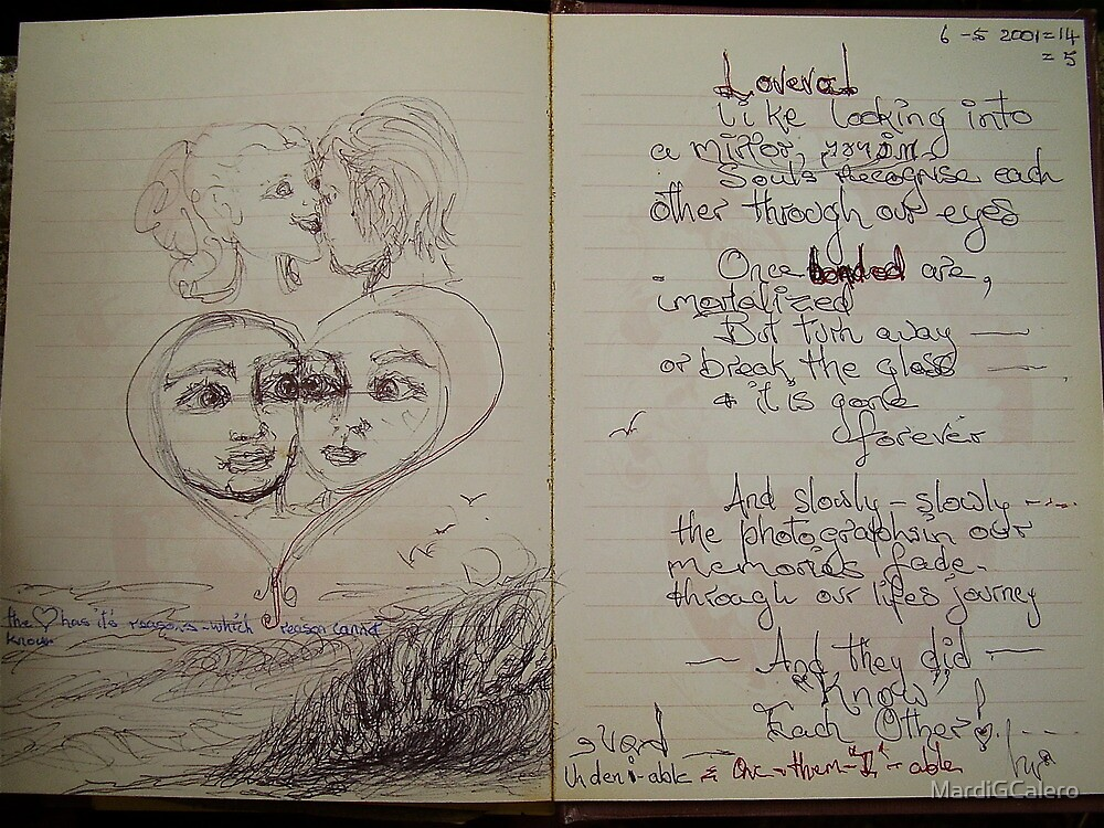love evol-ve, reflections by MardiGCalero