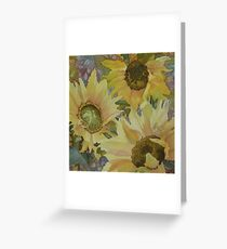 Sunflowers in the Afternoon Greeting Card