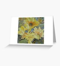 Sunflowers in the sunshine Greeting Card