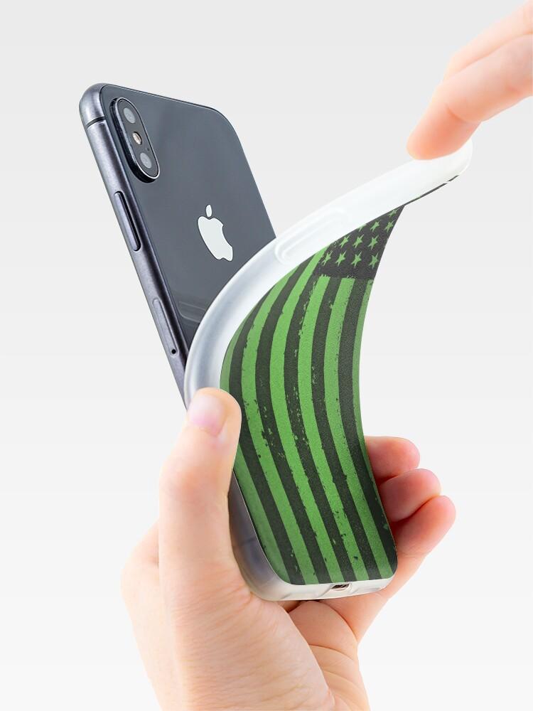Alternative Ansicht von Amerikanische Idiot Flagge - Green Day iPhone-Hüllen & Cover