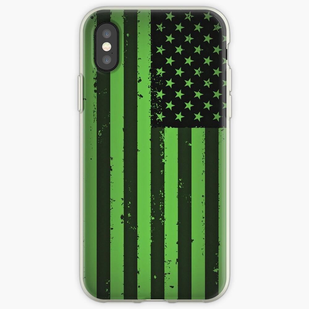 Amerikanische Idiot Flagge - Green Day iPhone-Hüllen & Cover