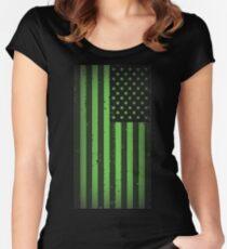 Amerikanische Idiot Flagge - Green Day Tailliertes Rundhals-Shirt