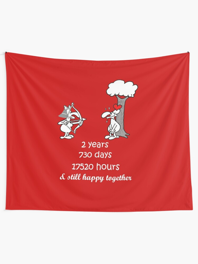 2nd Wedding Anniversary Gift For Him Her 2 Years Of Marriage 2nd Year Anniversary Funny Couple Matching Tapestry By Stella1 Redbubble,Types Of Hamsters Breed