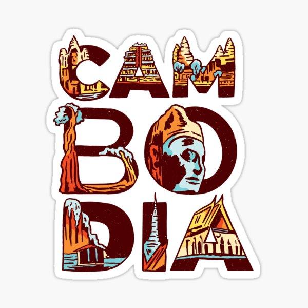 Cambodia Angkor Wat souvenir Southeast Asia vacation Sticker