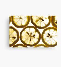Sweet Juicy Lemons Canvas Print