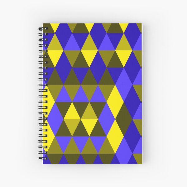 Geometric Pattern Collection Seamless Surface Pattern Spiral Notebook