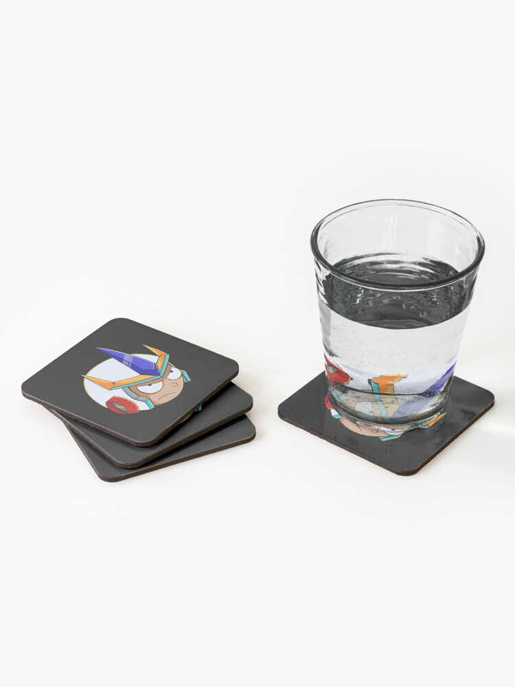 Alternate view of rick and morty samurai Coasters (Set of 4)