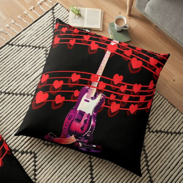 You Can Play On My Heartstrings Floor Pillow