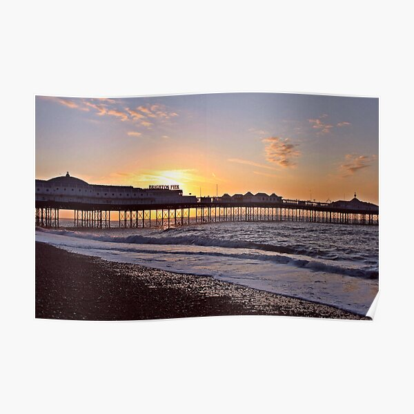 Sunrise behind Palace Pier Poster