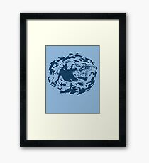 Water Based Ink Framed Print