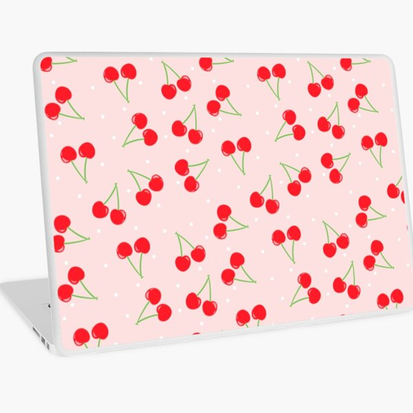 Cute cherry pattern not at all Animal Crossing inspired lol Laptop Skin