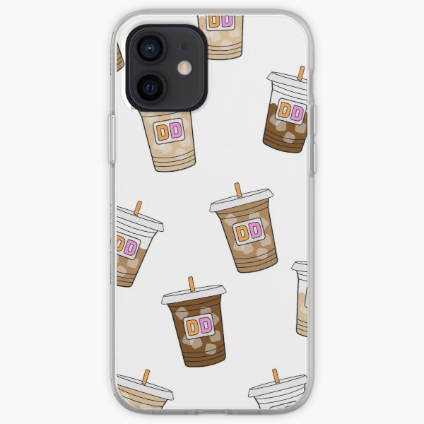 Dunkin Iced Coffee Print iPhone Soft Case