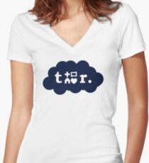 Tumblr Shirt Women's Fitted V-Neck T-Shirt