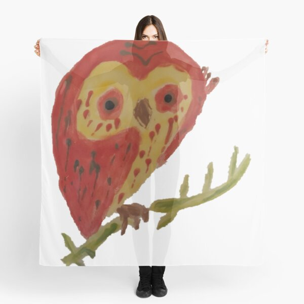 Kooky Heart Owl on a Branch Scarf