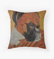 Gandolf, The Grumpy Boxer Throw Pillow