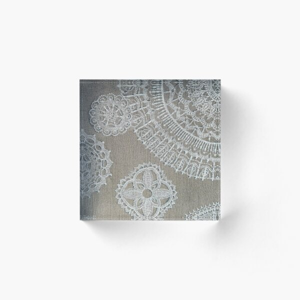 Lace cover Acrylic Block